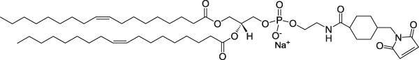 二油酰基磷脂酰乙醇胺N-[4-(对马来酰亚胺甲基)环己烷甲酰胺](钠盐)